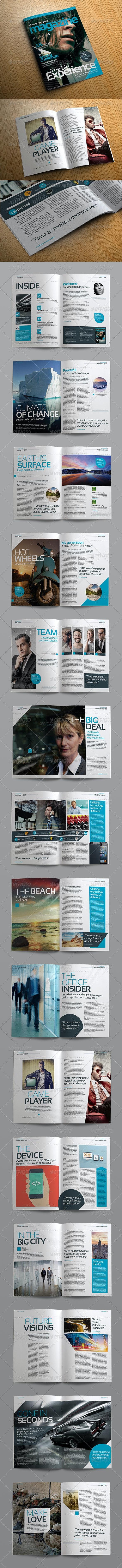 Stylish Volume 2 InDesign Magazine Template - Magazines Print Templates
