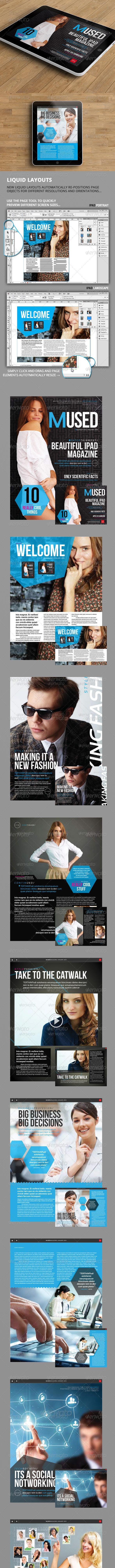 Mused iPad Magazine - Magazines Print Templates