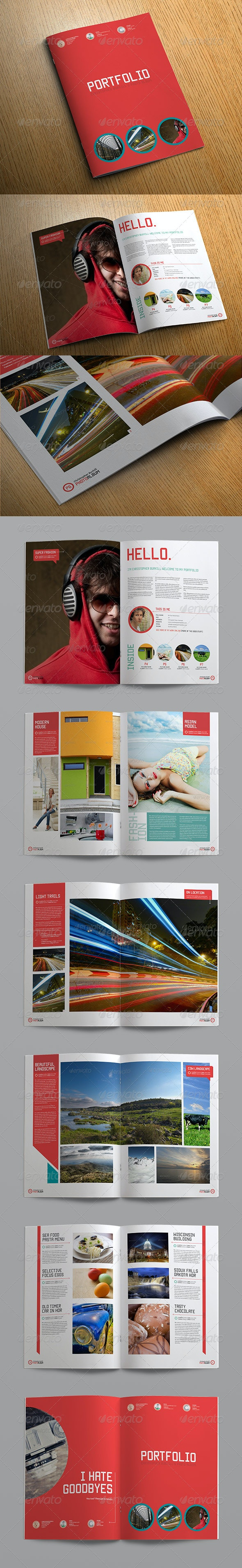 Sleek Photo Album Portfolio - Photo Albums Print Templates