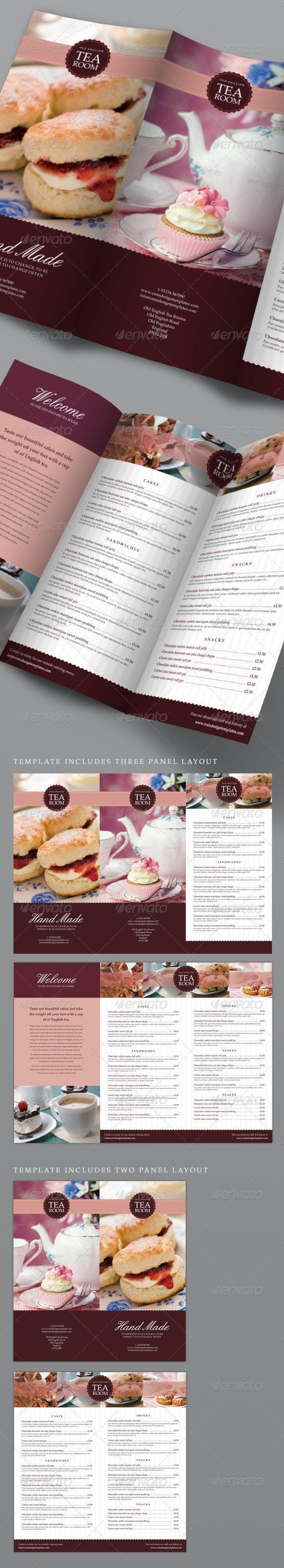 Tea Room Coffee Shop Menu - Food Menus Print Templates