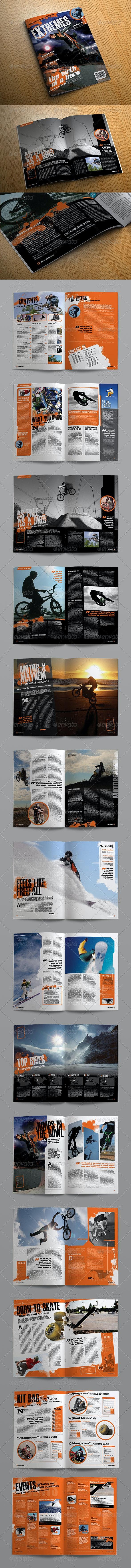 eXtreme Magazine Template - Magazines Print Templates