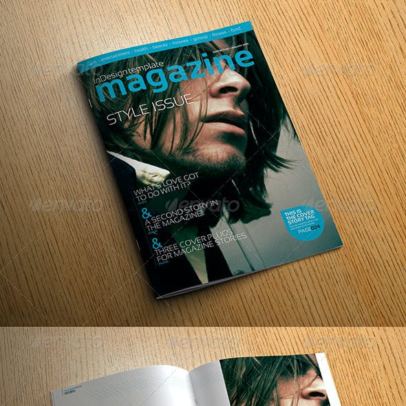 Stylish InDesign Magazine Template