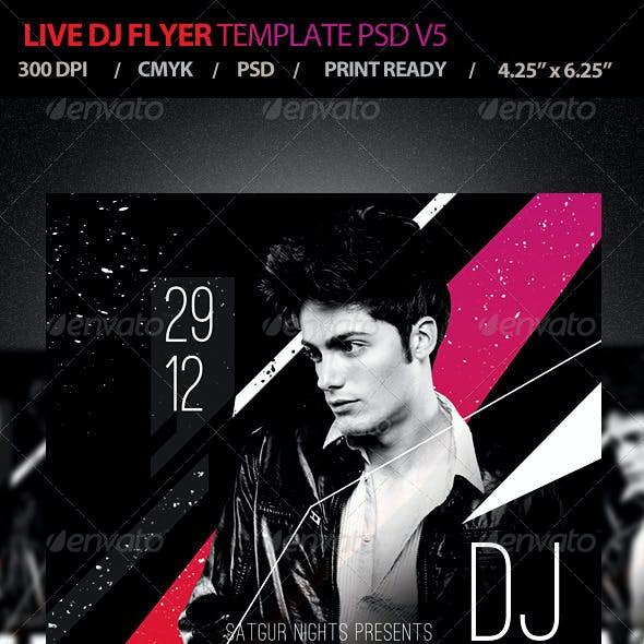 Live DJ Flyer Template PSD V5