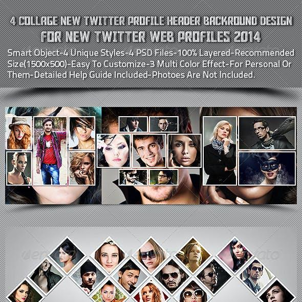 4 Collage New Twitter Profile Header Backround