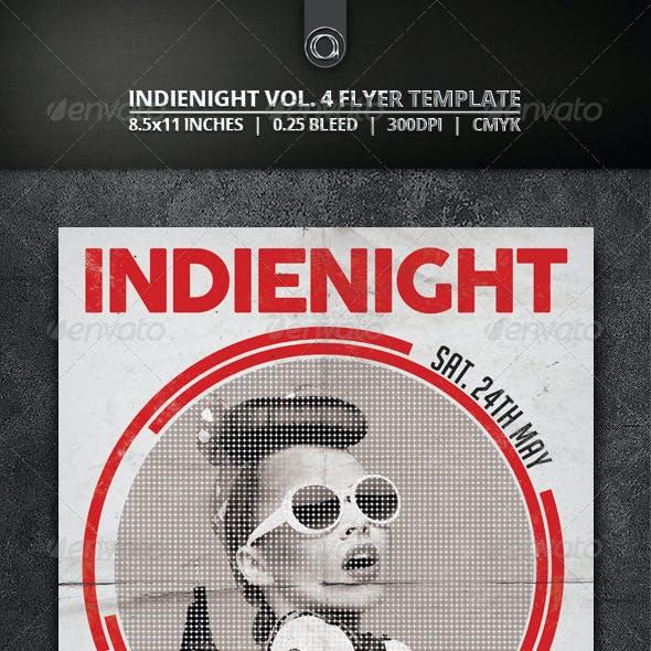 Indienight Vol 4. Flyer Template