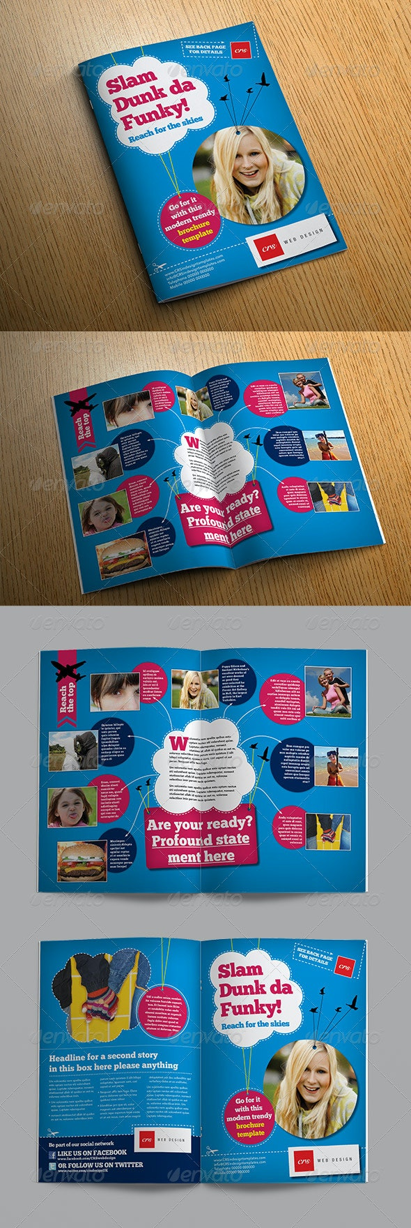 Funky Brochure Template - Informational Brochures