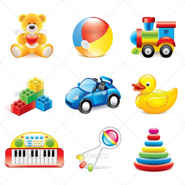 Colorful Toys Icons