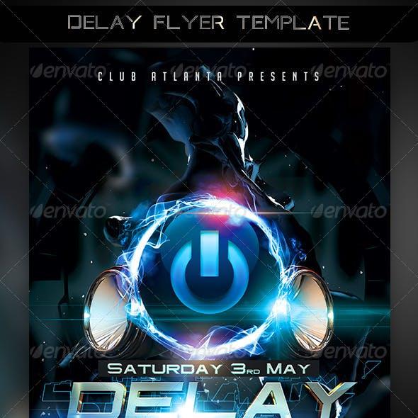 Delay Flyer Template