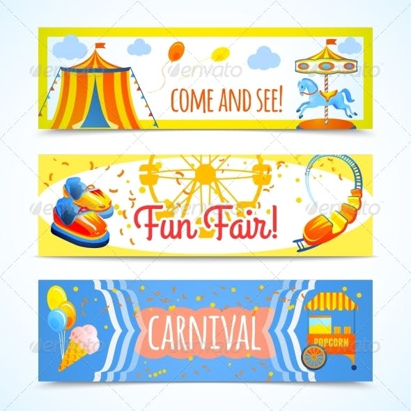 Carnival Banners Horizontal