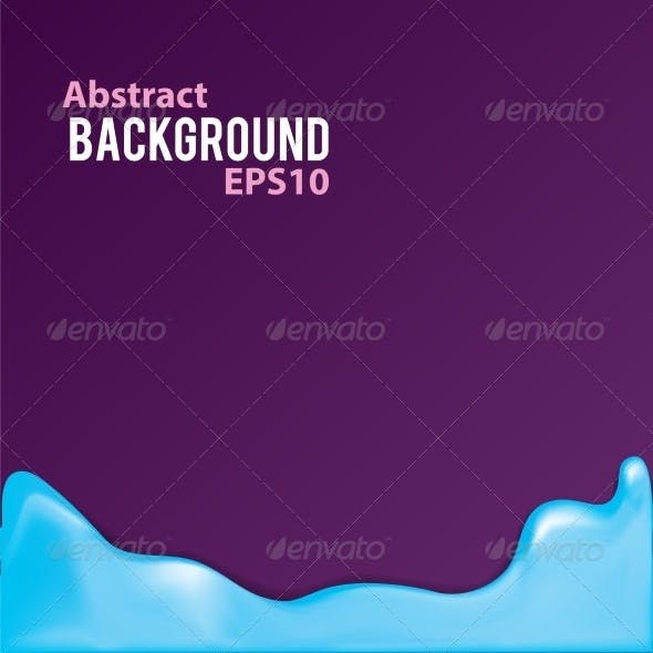 Abstract Background with Liquid Frame