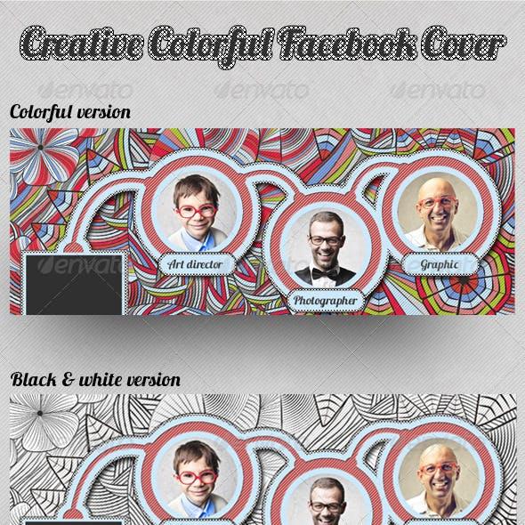 Creative Colorful Sketch Facebook Cover