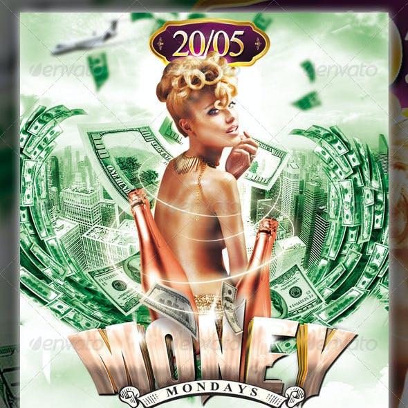 Money Mondays Party Flyer