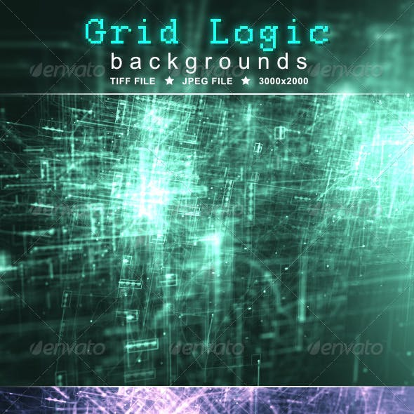 Grid Logic Background