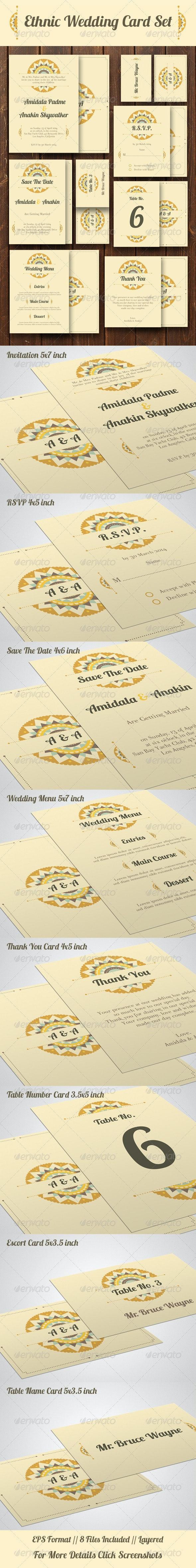 Ethnic Wedding Card Set - Weddings Cards & Invites