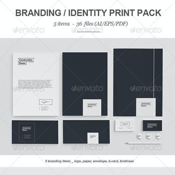 Construction Room Branding Print Pack