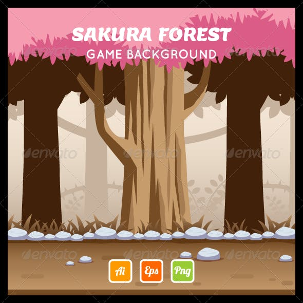 Game Background - Sakura Forest