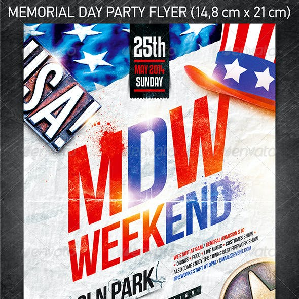 Memorial Day Weekend Party Flyer Vol.2