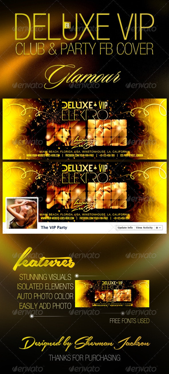 Deluxe VIP Club Party FB Cover - Facebook Timeline Covers Social Media