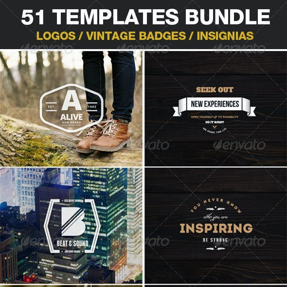 51 Templates / Logos / Vintage Badges / Insignias