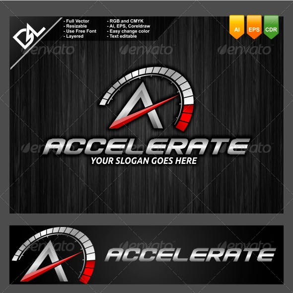 Accelerate A Letter Logo Template