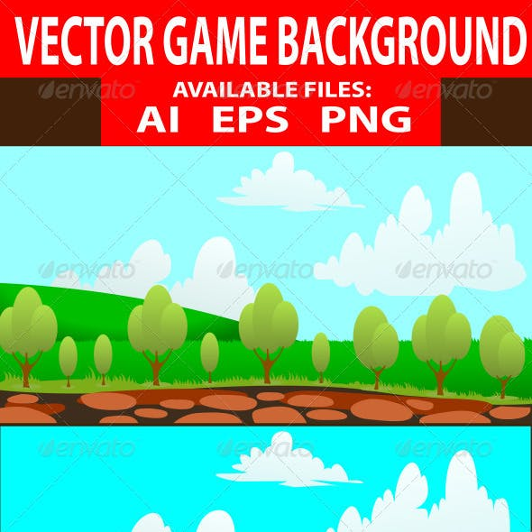 Vector Nature Game Background