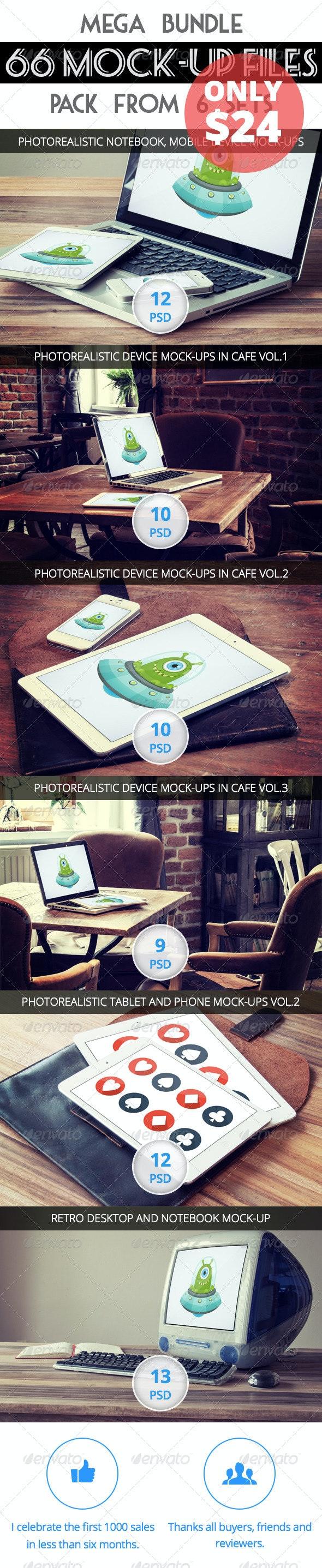 66 Mock-Up - Second Bundle - Displays Product Mock-Ups