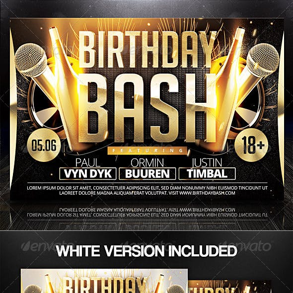 Birthday Bash Flyer v2