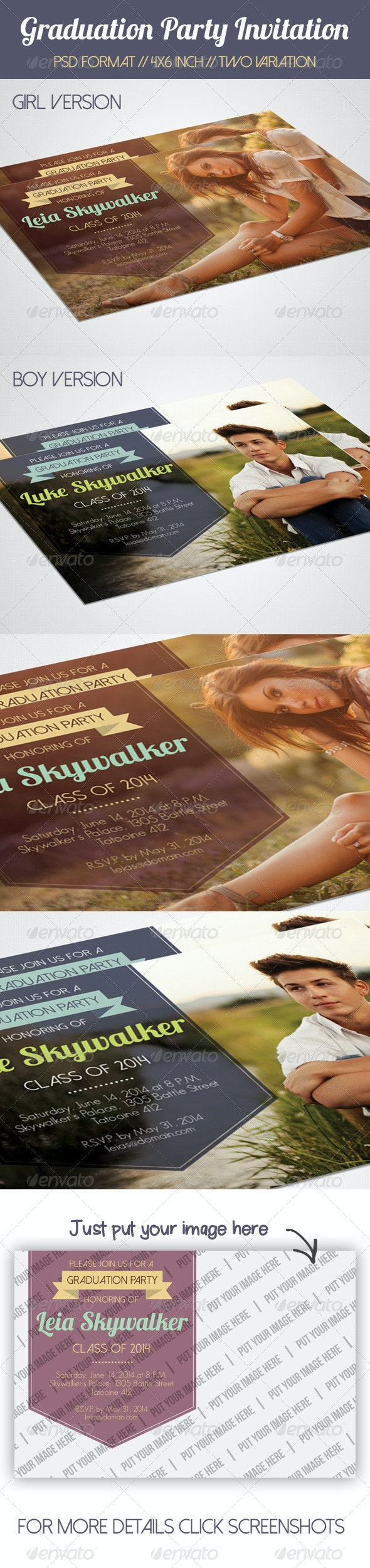 Simple Graduation Party Invitation - Invitations Cards & Invites