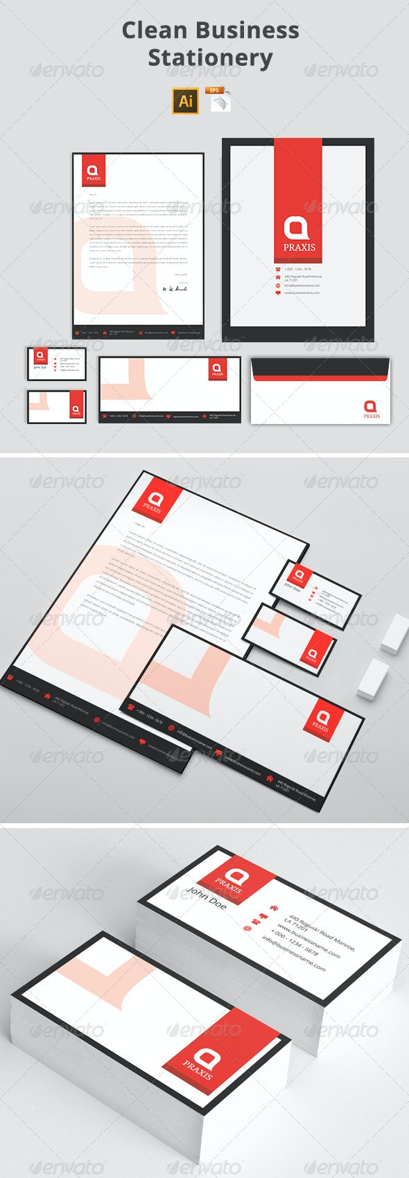 Clean Business Stationery - Stationery Print Templates