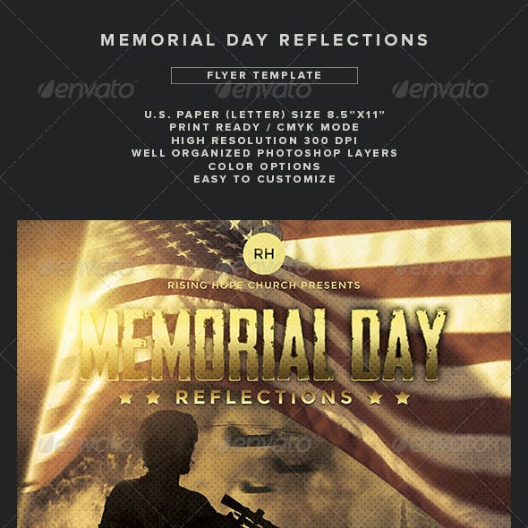 Memorial Day Reflections Flyer Template
