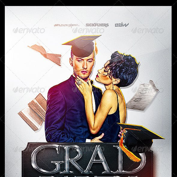 Graduation Party Flyer Template