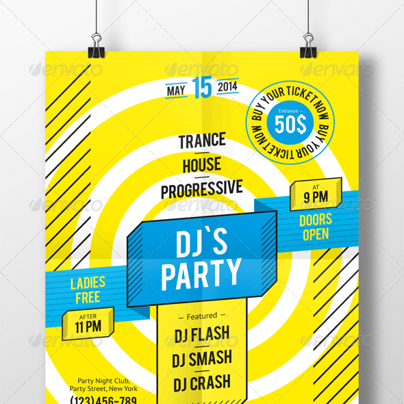 DJ Party Poster Template