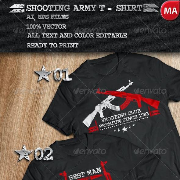 2 Shooting Army T-Shirt
