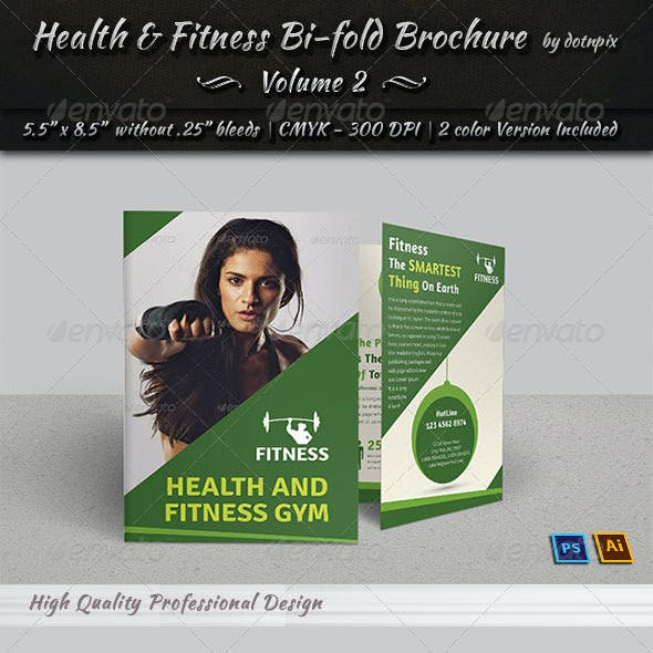 Health & Fitness Bi-Fold Brochure | Volume 2