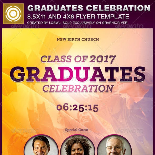 Graduates Celebration Church Flyer Template