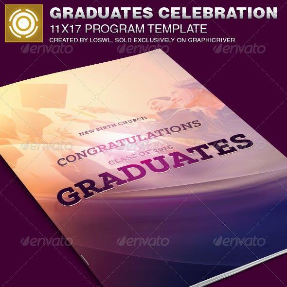 Graduates Celebration Church Program Template