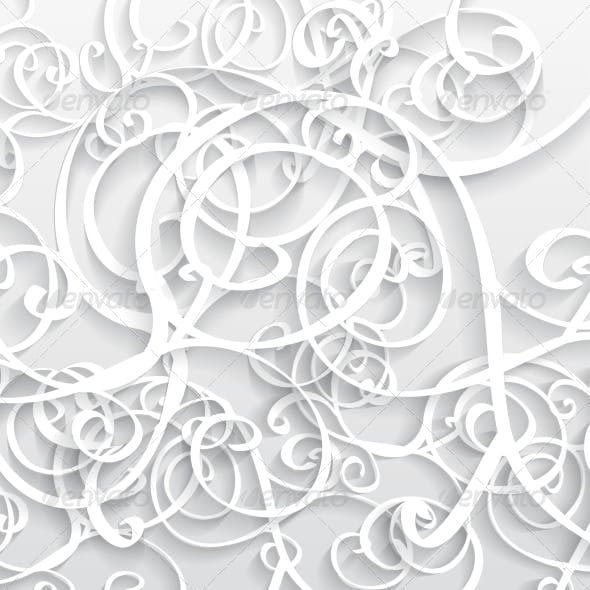 Abstract Vector Background 3D