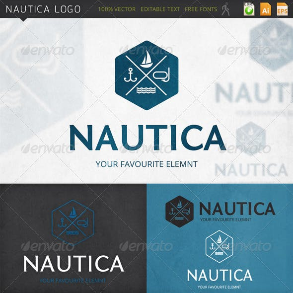 Nautica Marine Logo Template
