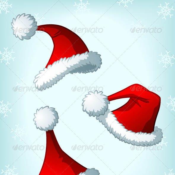 Cartoon Santa Claus' Christmas Hats