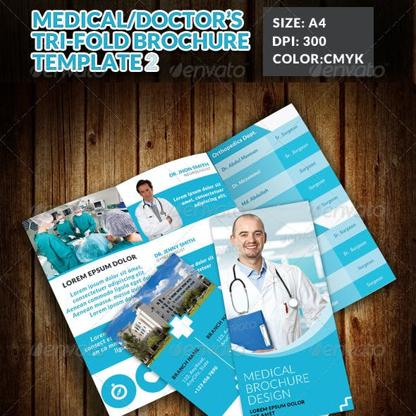 Doctor Medical Hospital Health Tri-Fold Brochure 2