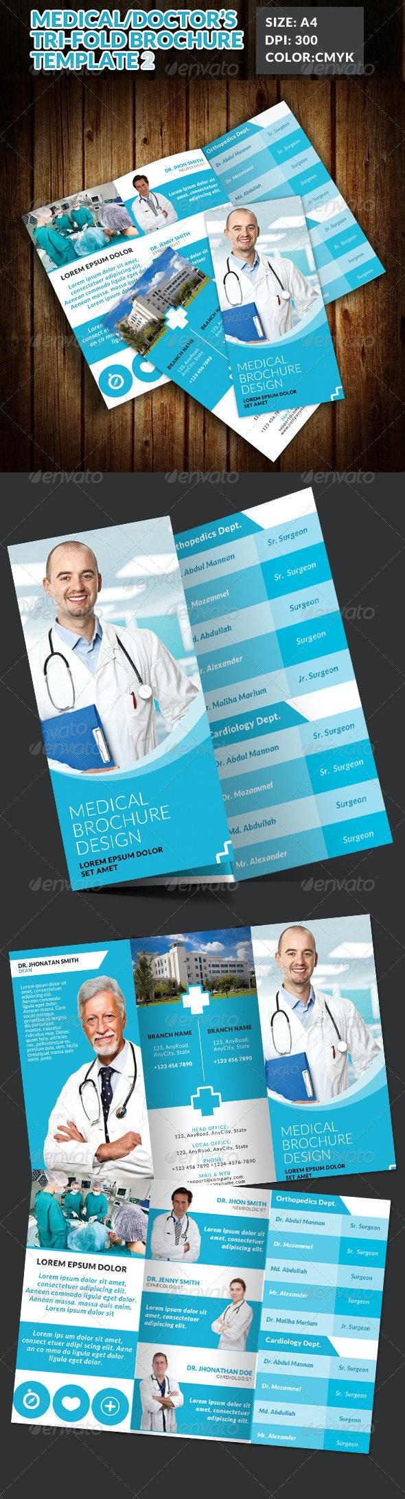 Doctor Medical Hospital Health Tri-Fold Brochure 2 - Corporate Brochures
