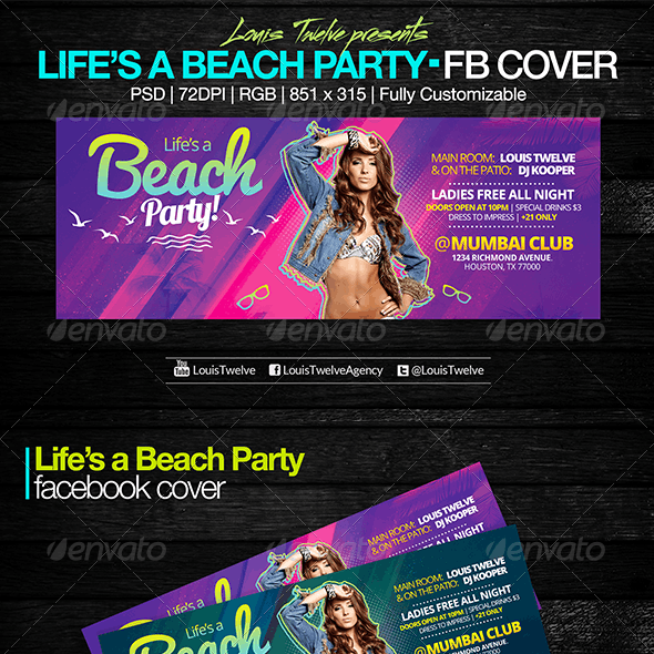 Life is a Beach Party | Facebook Cover