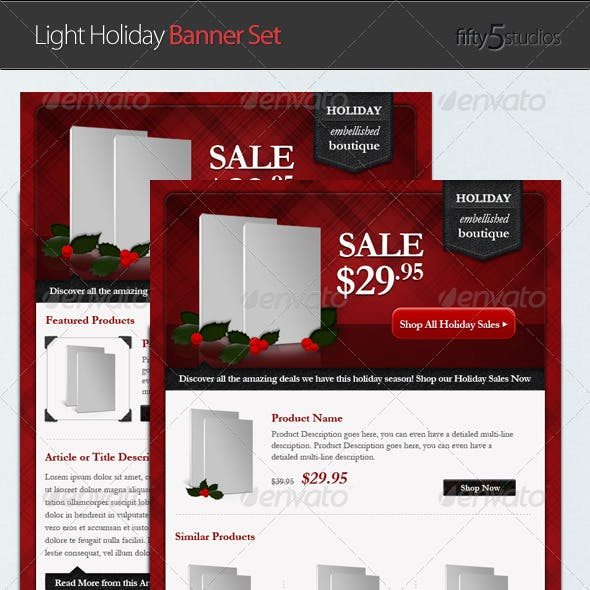 Light Holiday E-commerce Email Newsletter Template