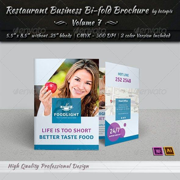 Restaurant Business Bi-Fold Brochure | Volume 7