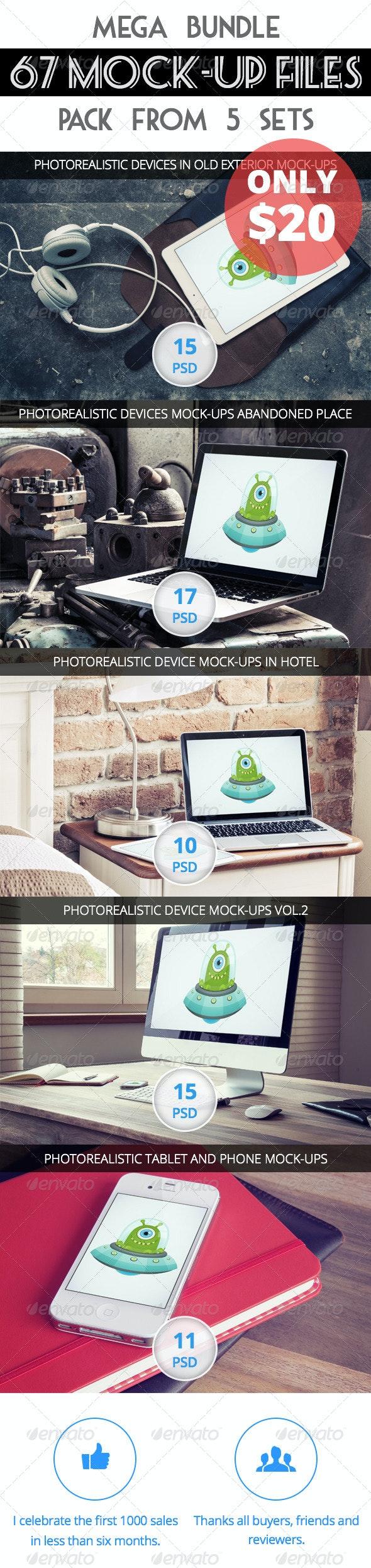 67 Mock-Up - First Bundle - Displays Product Mock-Ups