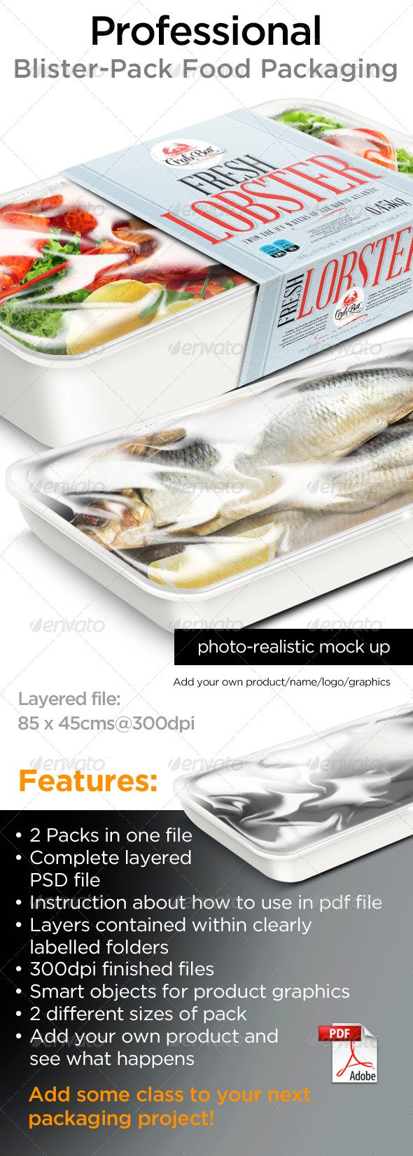 Food Packaging - Product Mock-Ups Graphics