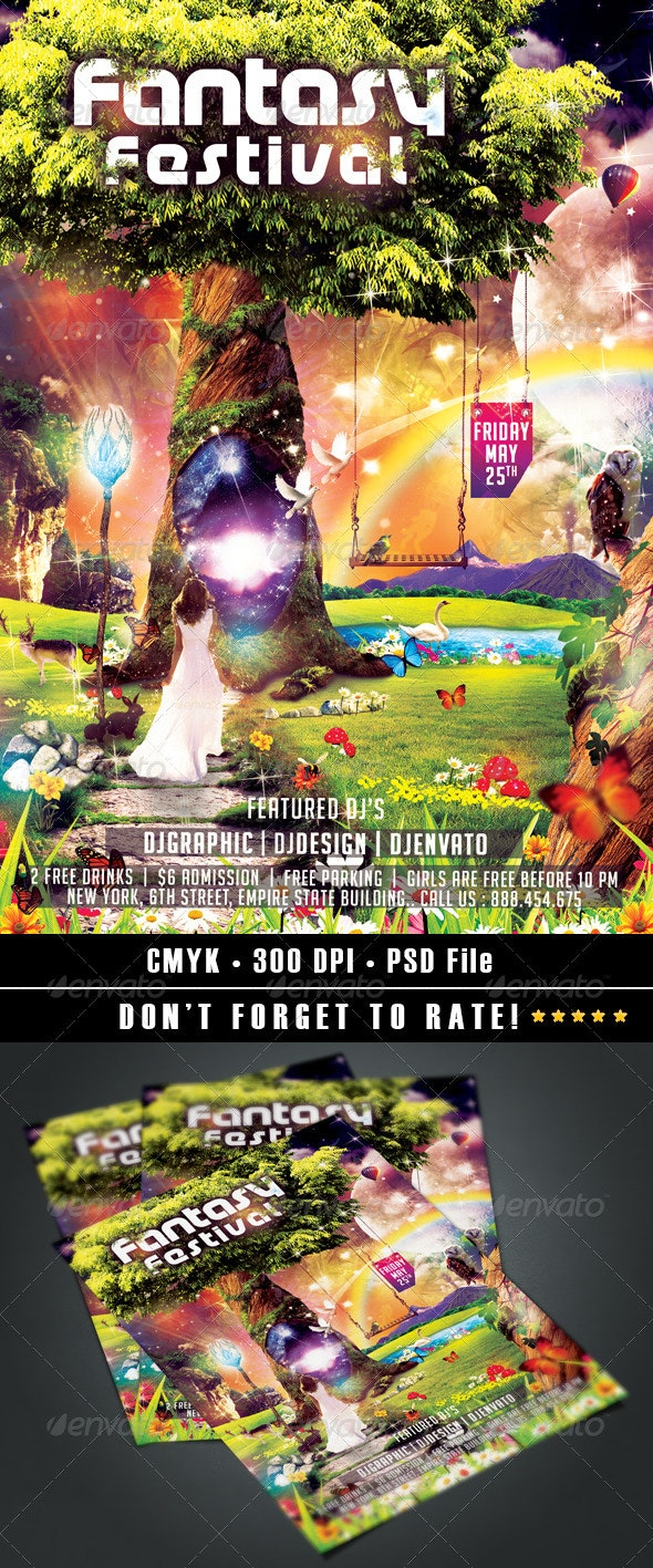 Fantasy Festival  - Events Flyers