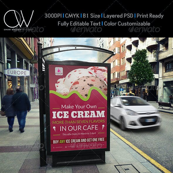 Ice Cream Poster Template