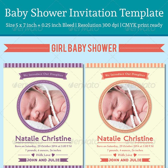 Baby Announcement Template - Vol.3
