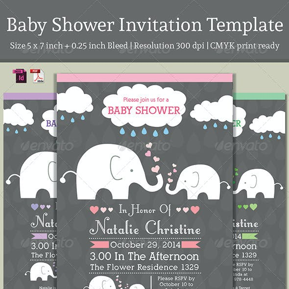 Baby Shower Template - Vol. 3